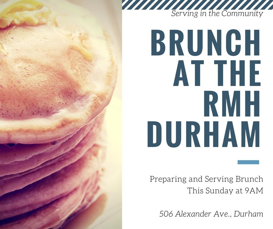 Serve Brunch at RMH Durham